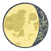 満月と下弦の間